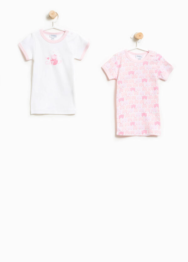 Two-pack patterned Better Cotton under shirts | OVS