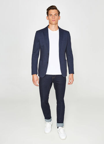 Micro patterned jacket in cotton