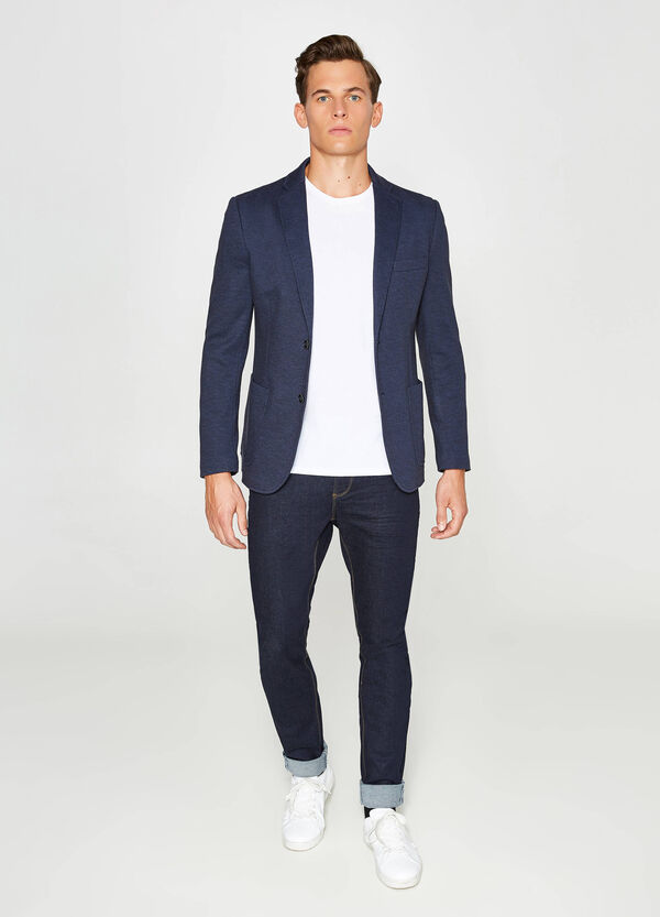 Micro patterned jacket in cotton | OVS