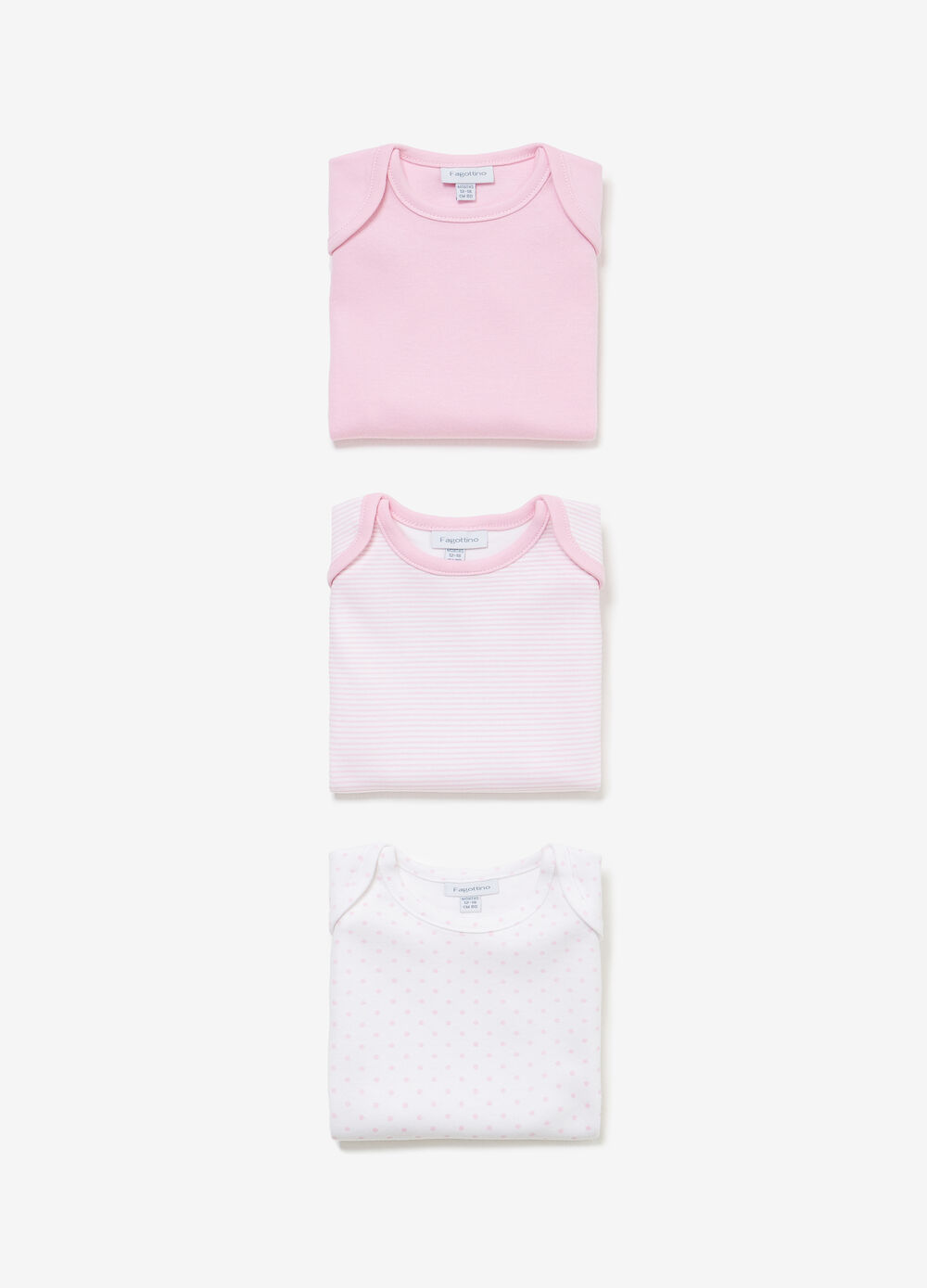 Three-pack solid colour and striped bodysuits