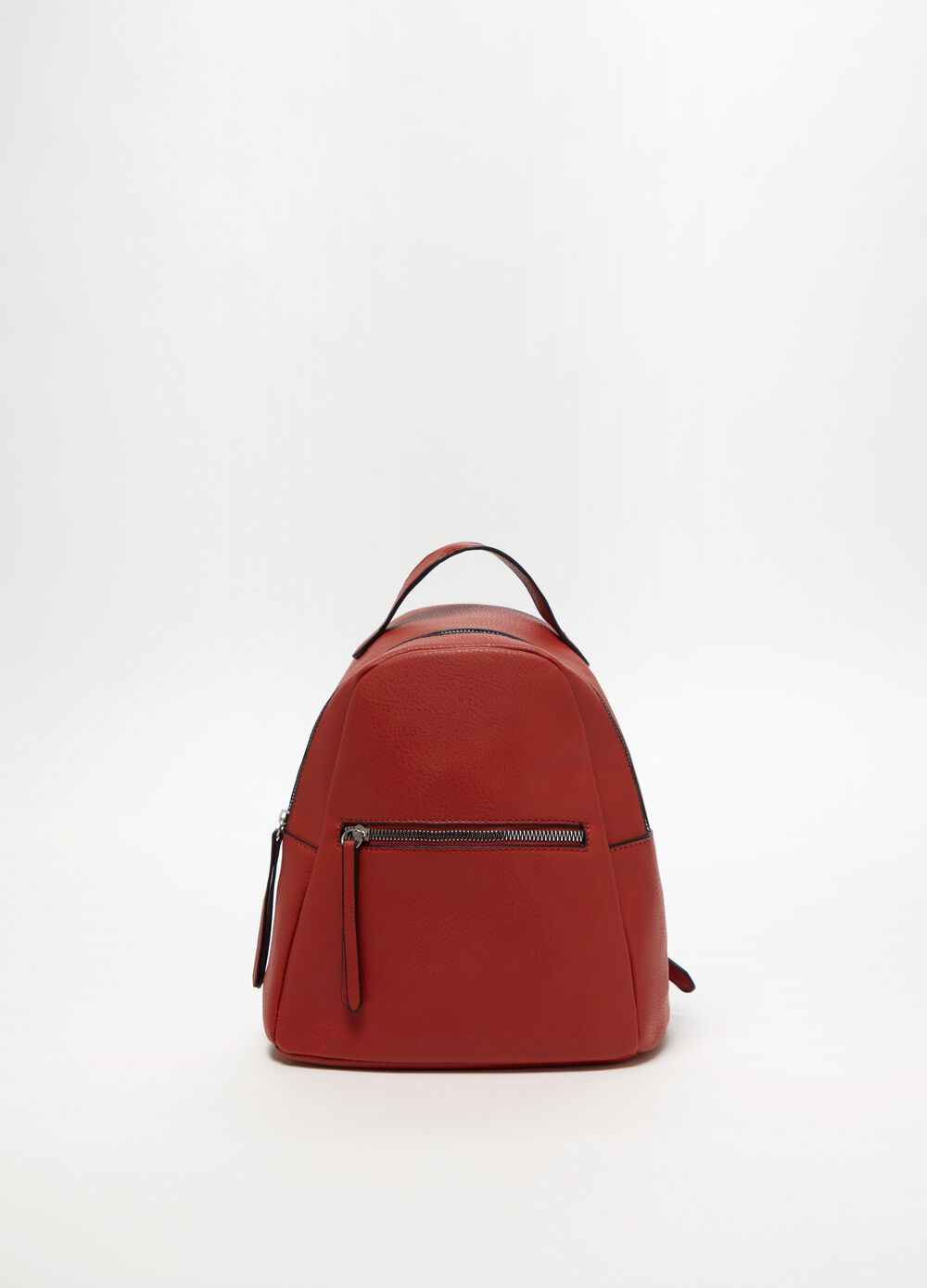 Soft textured leather-look backpack