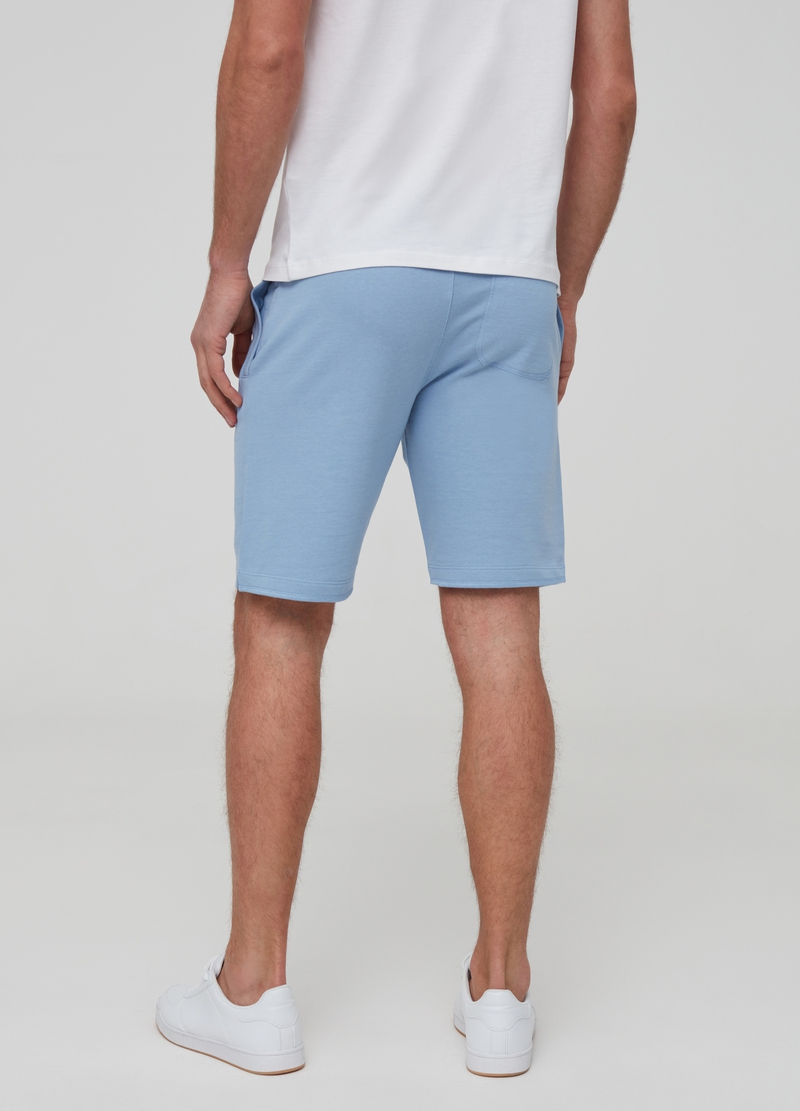 Solid colour fleece Bermuda shorts image number null