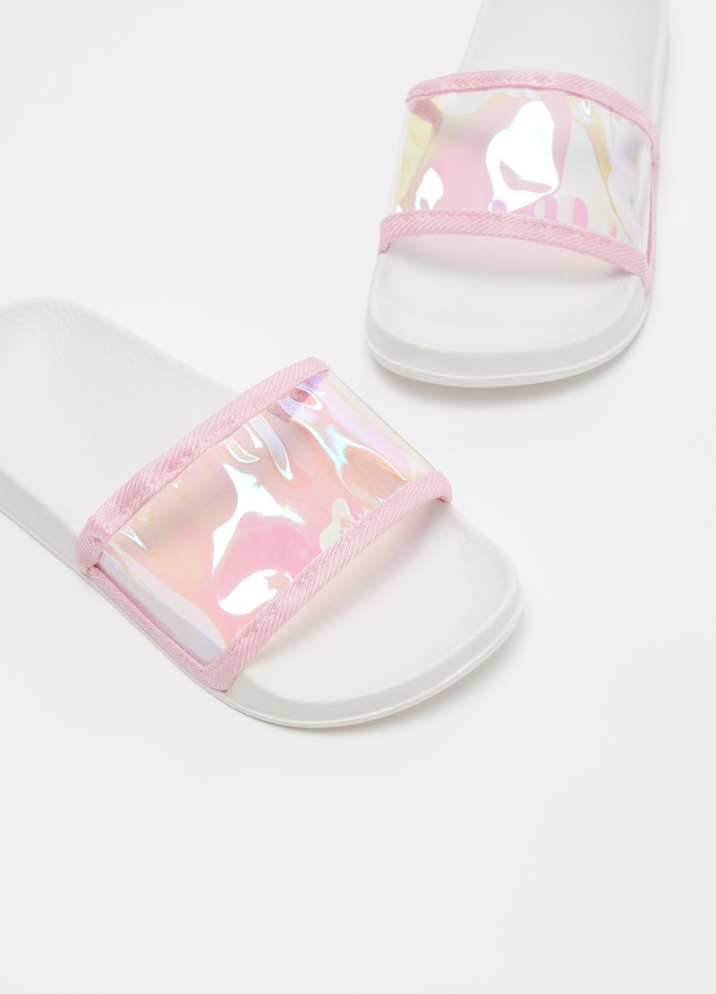 Slippers with semi-transparent band image number null