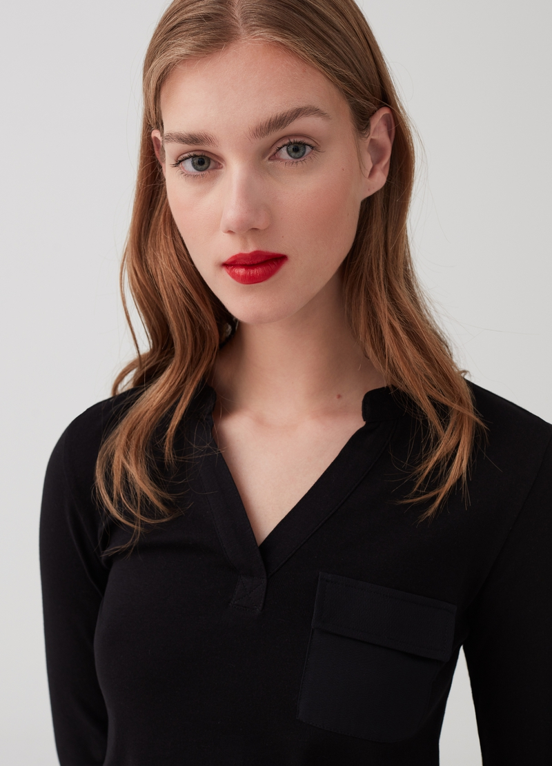 Long-sleeved T-shirt with pockets image number null