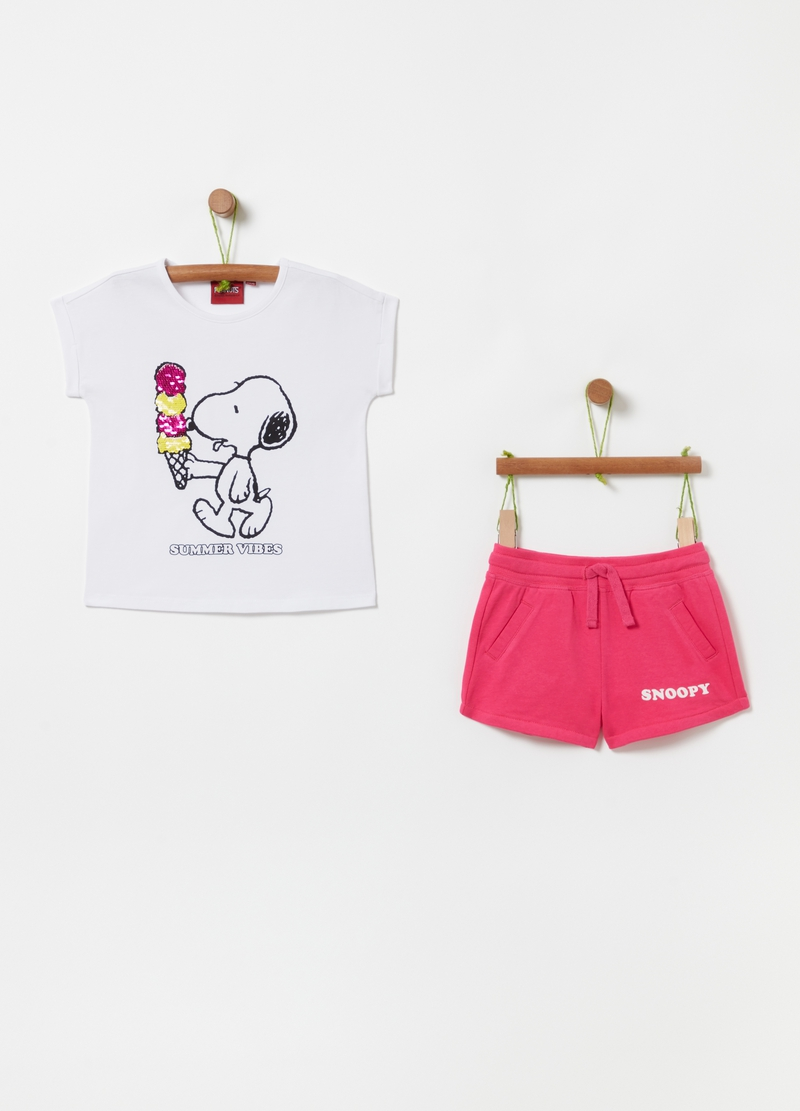 Jogging set t-shirt e shorts Snoopy image number null