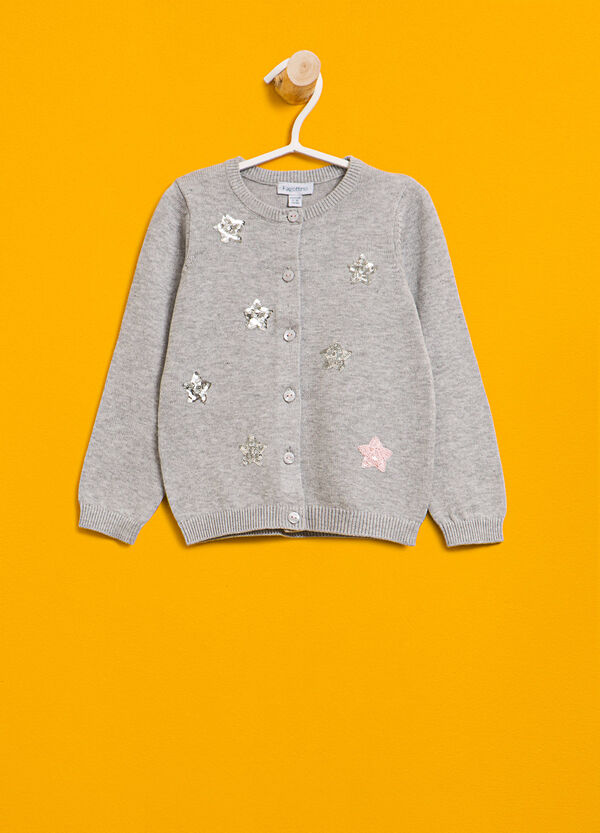100% cotton cardigan with sequins | OVS