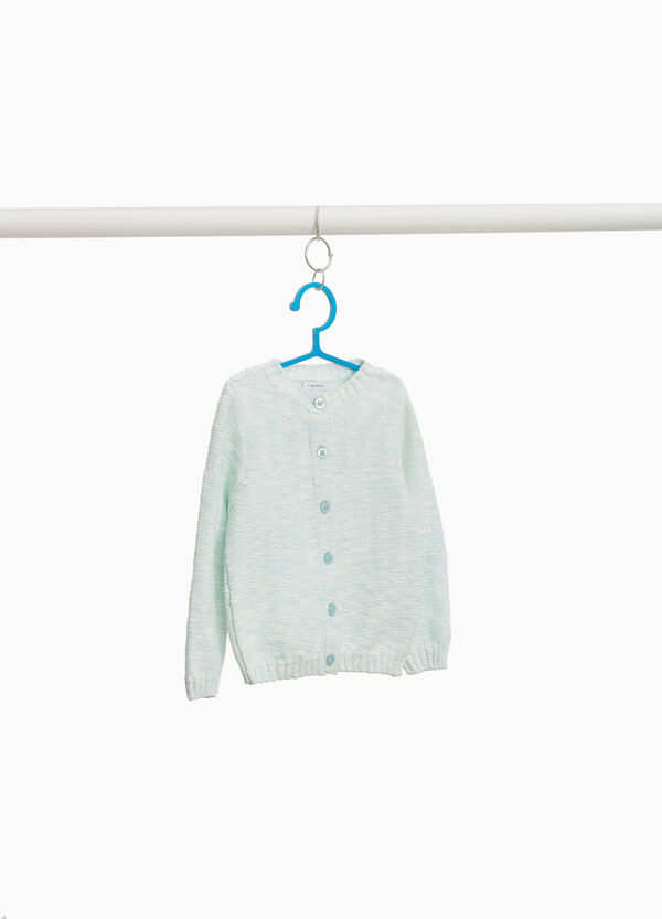 Knitted cardigan in 100% cotton