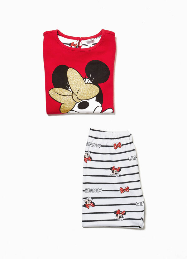 Patterned pyjamas with Minnie Mouse print