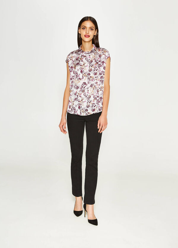 Blouse with all-over floral print | OVS