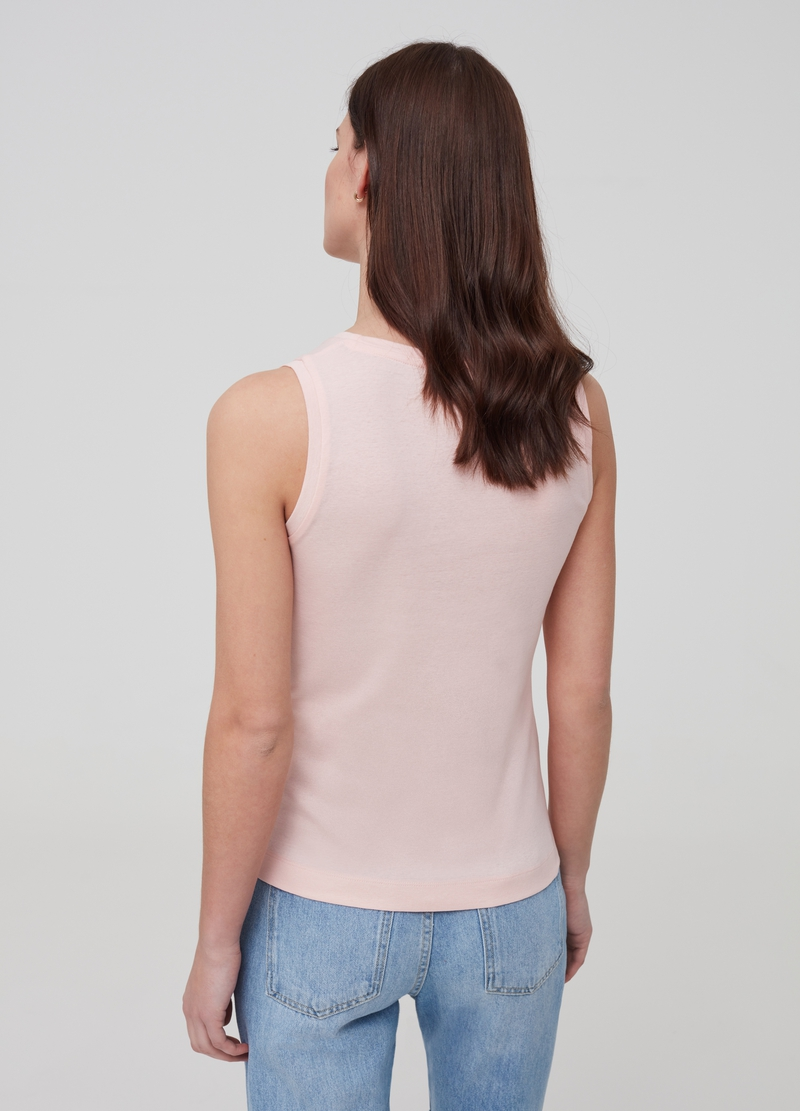 100% organic cotton tank top with lace image number null