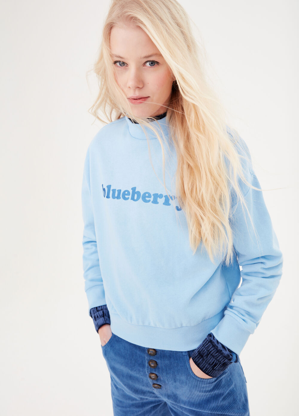 Sweatshirt with matching lettering print