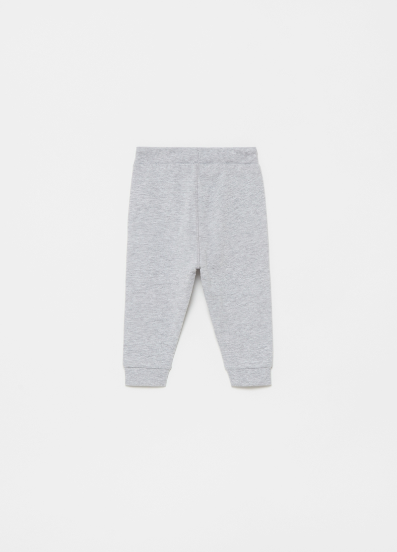 Joggers con toppe stampa gattino image number null