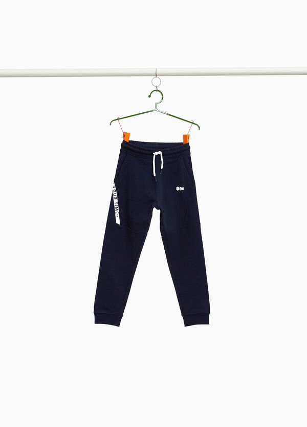 Stretch joggers with lettering print