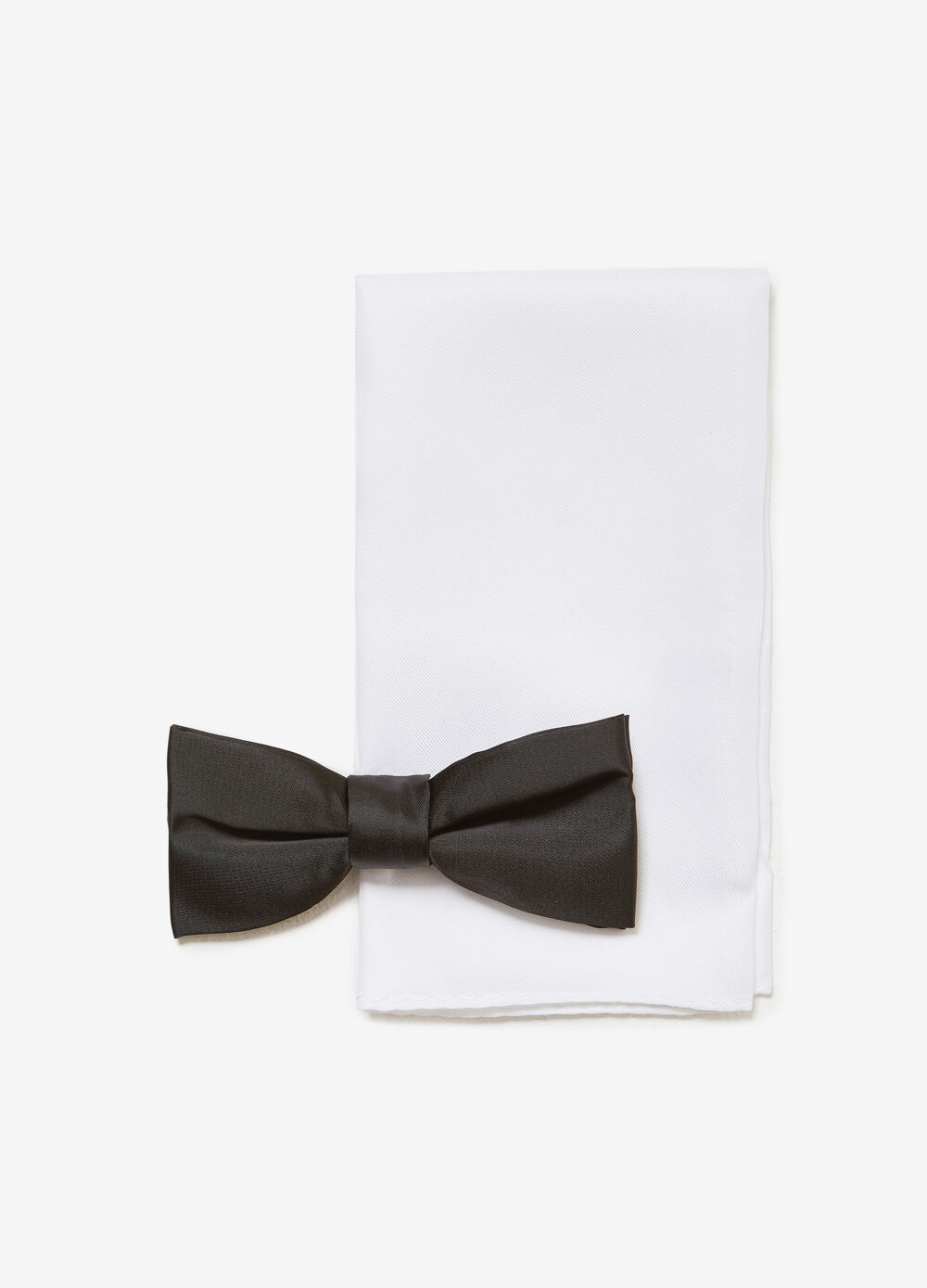 Solid colour bow tie