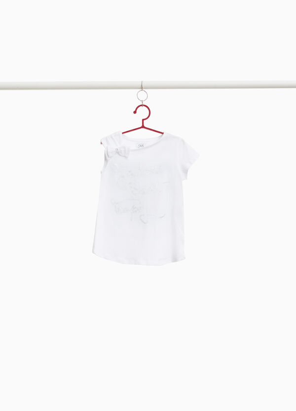 T-shirt with one sleeveless side and print