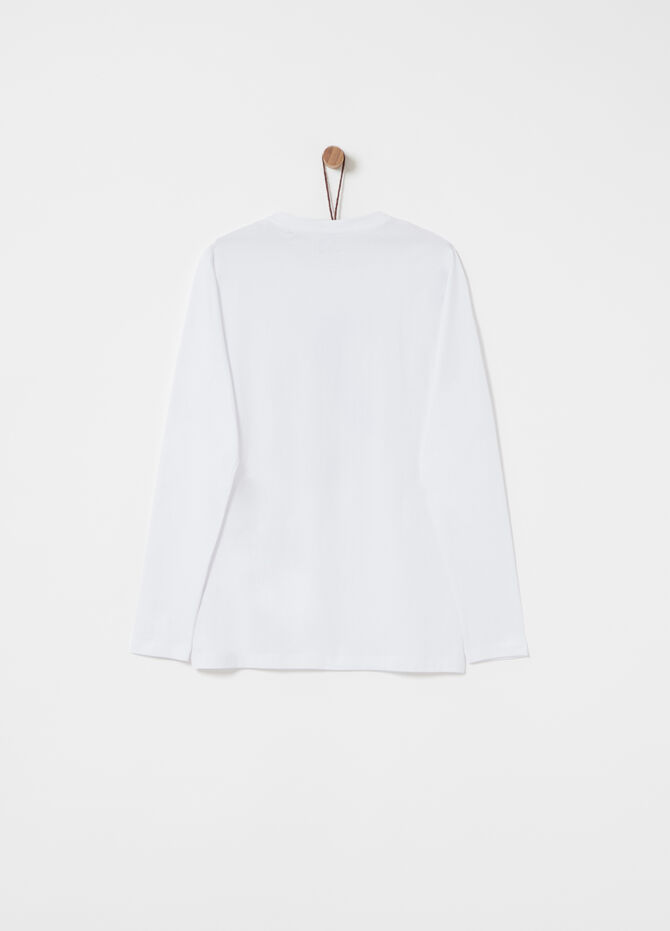 Long-sleeved T-shirt in 100% cotton
