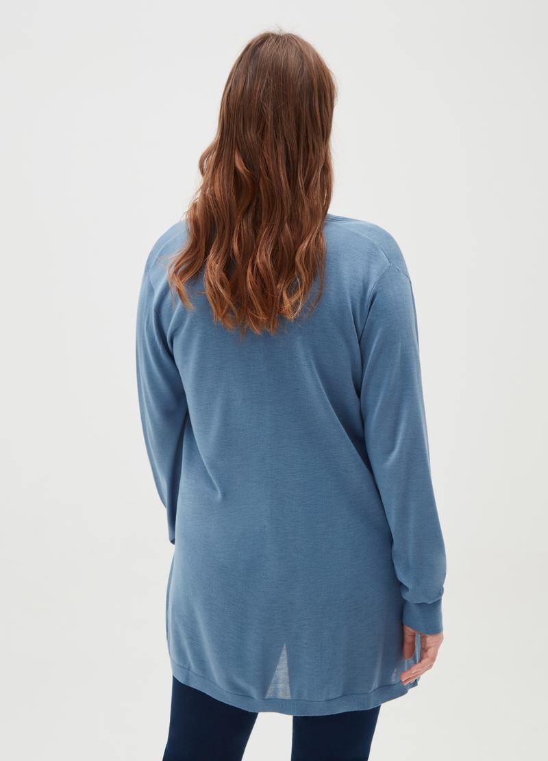 Curvy open cardigan with pockets image number null