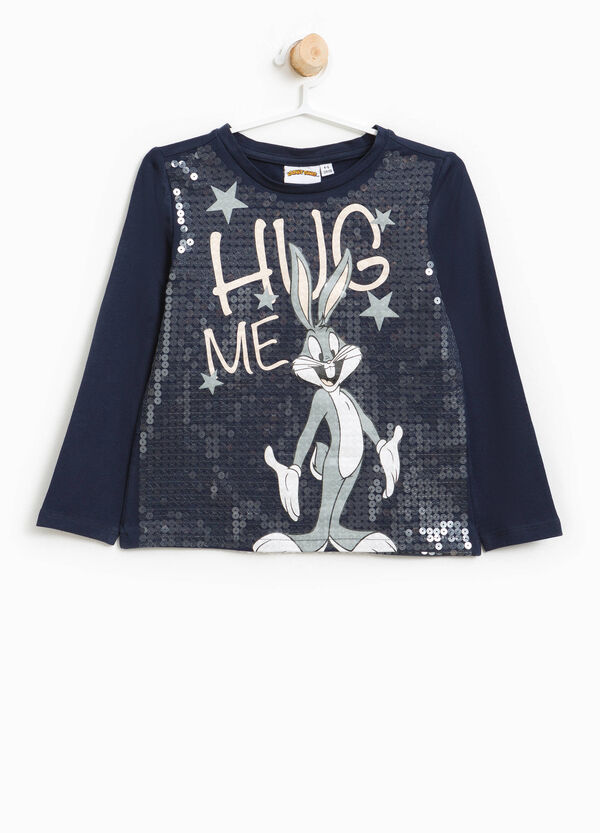 T-shirt stretch Bugs Bunny e paillettes | OVS