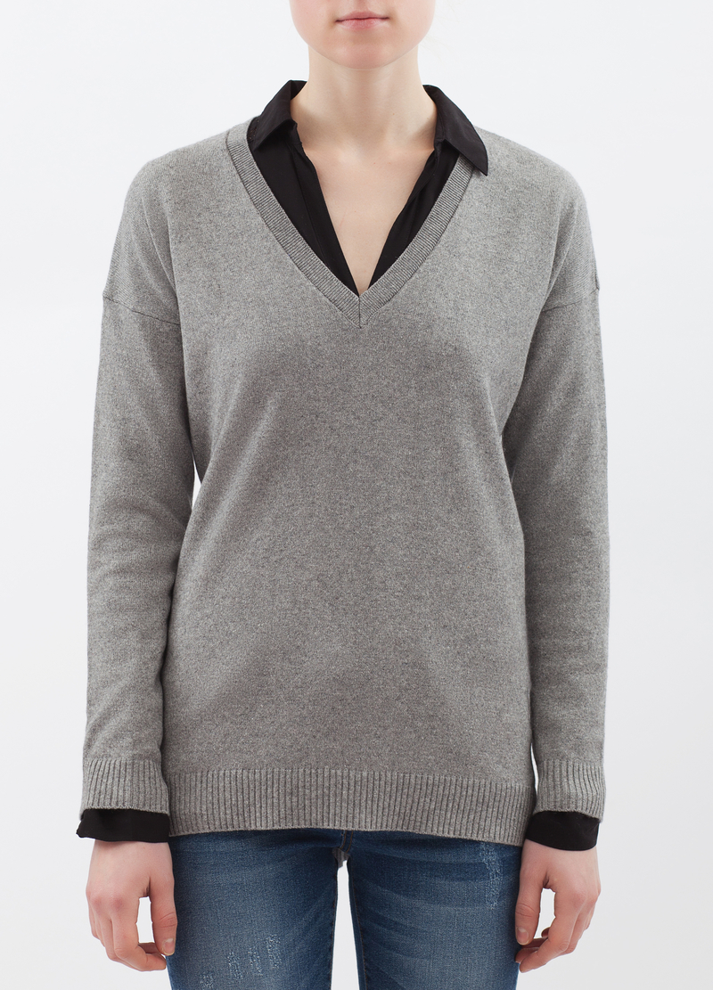Cashmere and silk blend pullover image number null