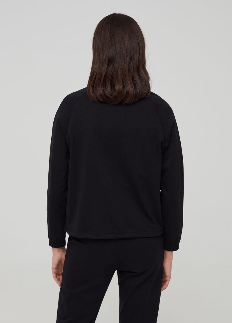 100% organic cotton sweatshirt with high neck image number null