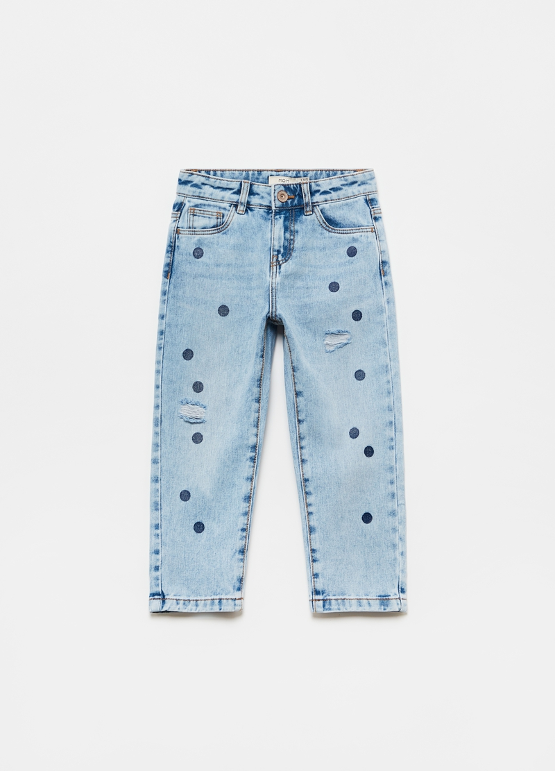 Jeans mom fit con pois image number null