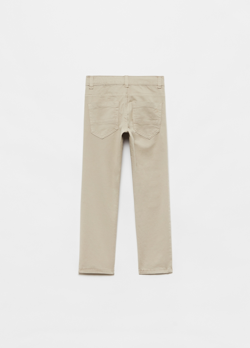 Pantaloni in cotone stretch cinque tasche image number null