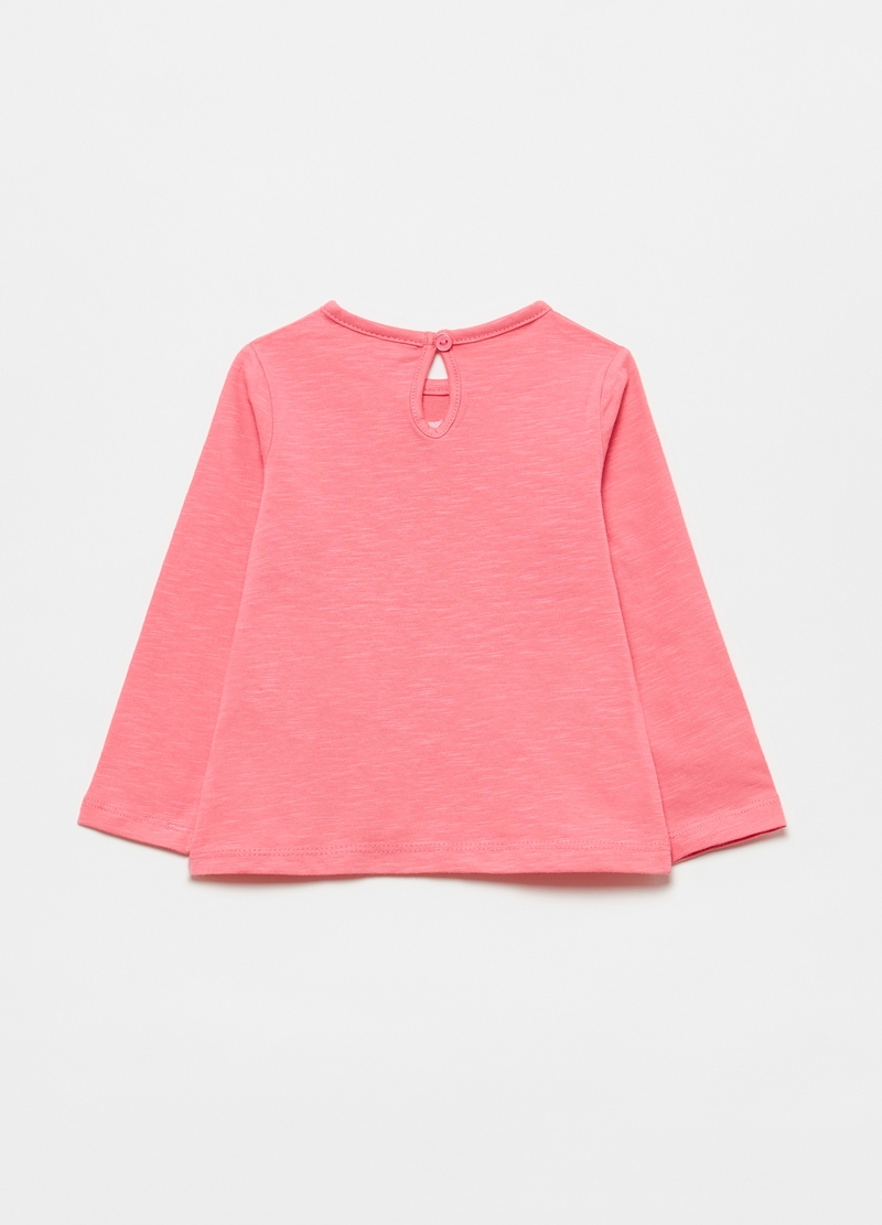 Slub cotton T-shirt with print image number null