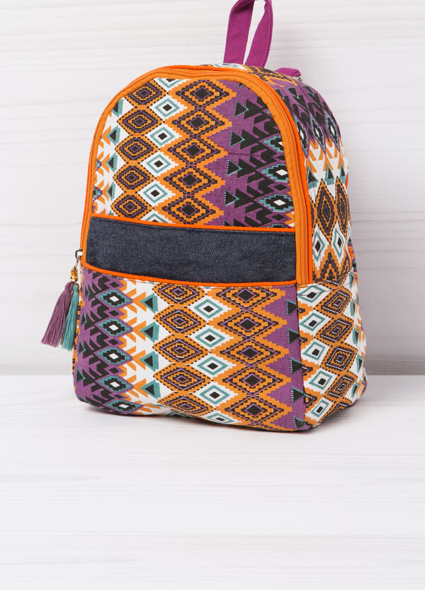 Cotton backpack with geometric print | OVS