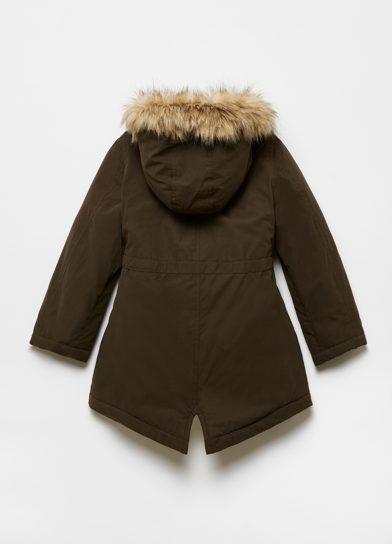 Parka with hood and pockets image number null