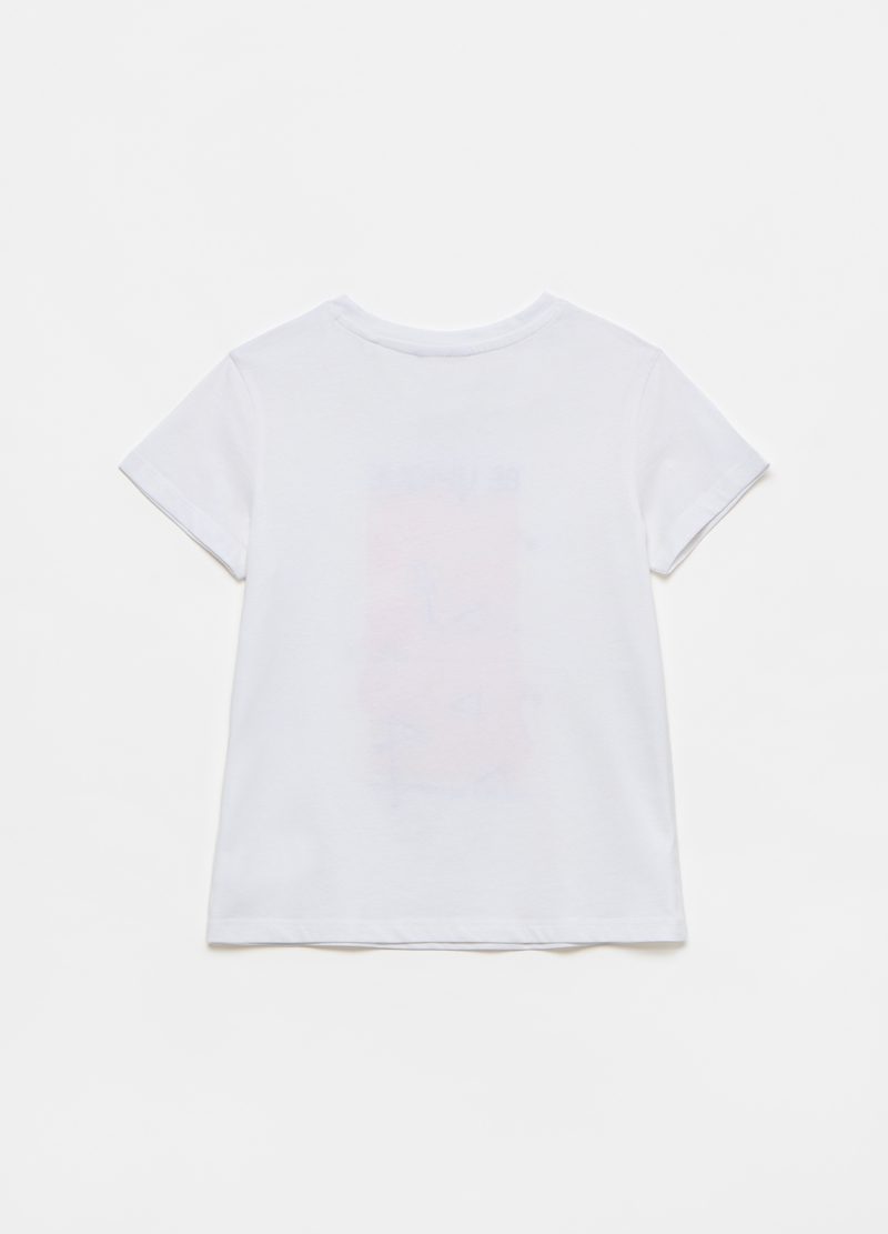 T-shirt with pink flamingos print image number null