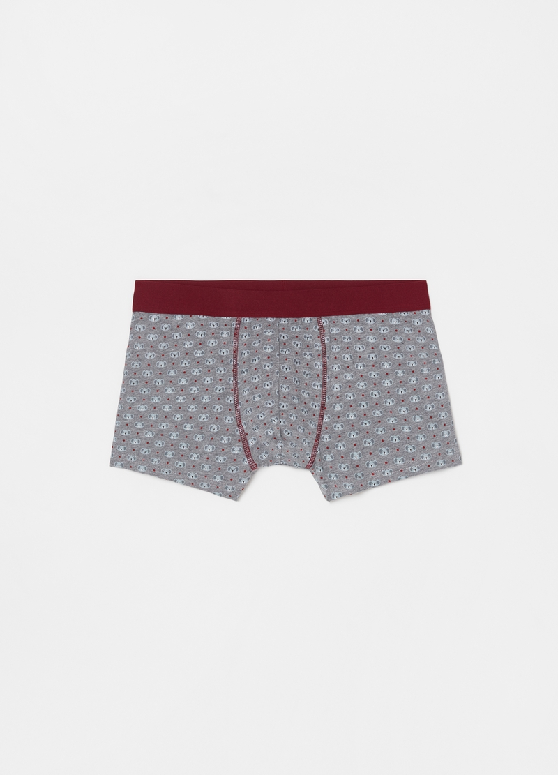 Five-pack patterned boxer shorts in 100% cotton image number null