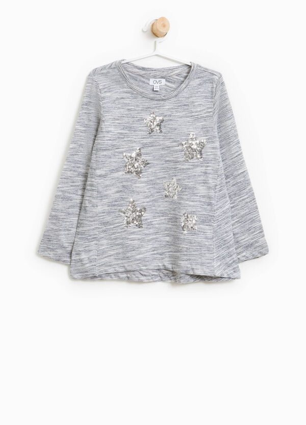 Viscose T-shirt with sequins | OVS