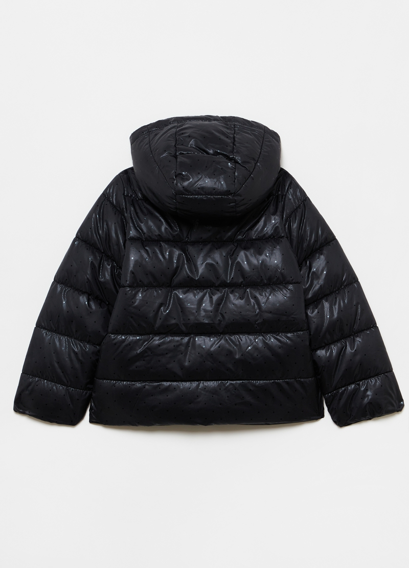 Padded jacket with stars and polka dots image number null