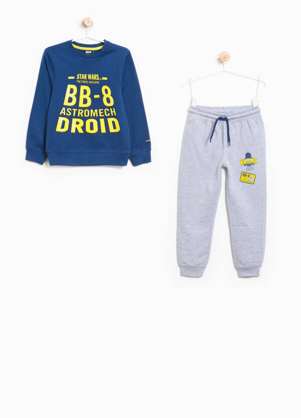 Star Wars print cotton tracksuit