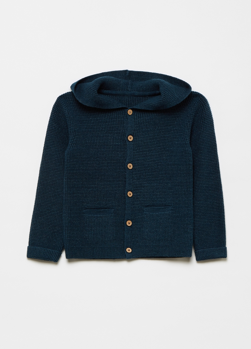 Hooded cardigan image number null