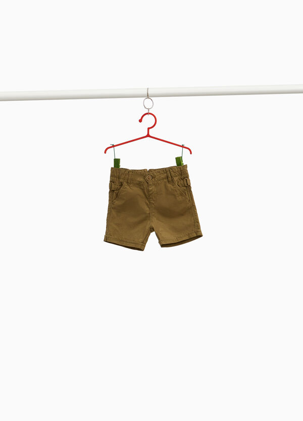 Bermuda shorts in pure cotton with buckle