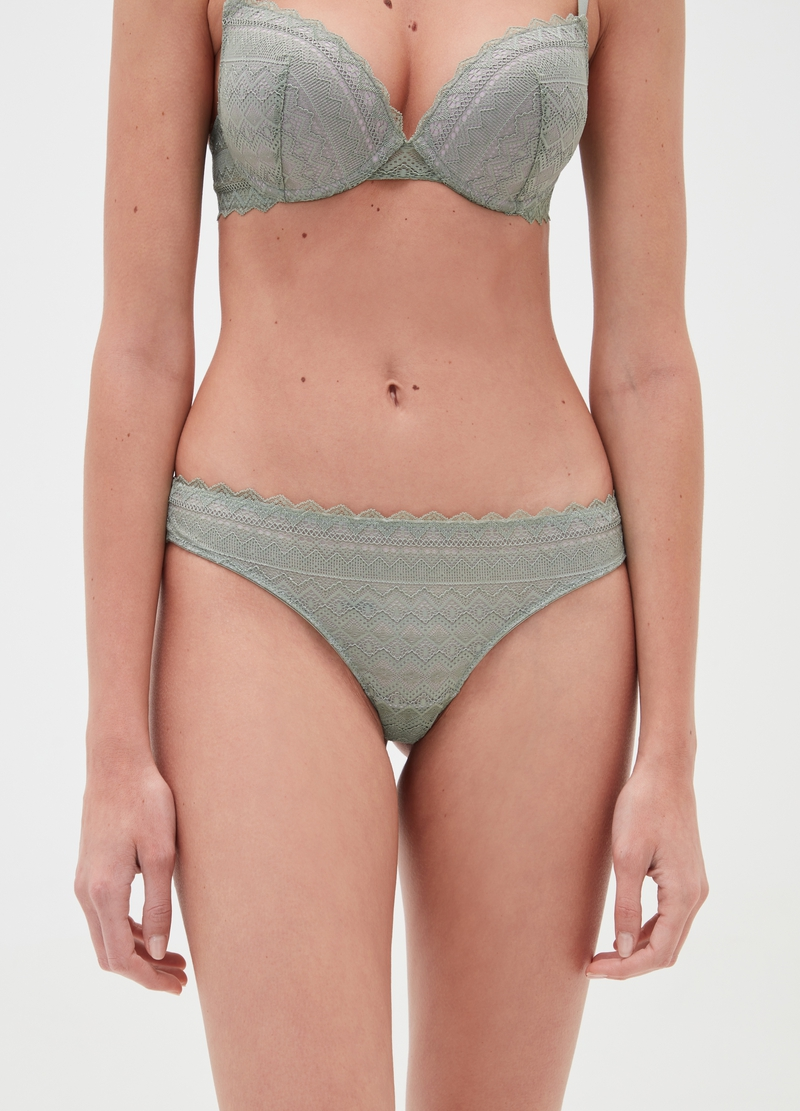 Brazilian-cut briefs with lace front image number null