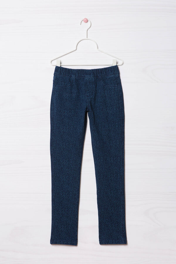 Patterned jeggings in stretch cotton | OVS