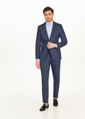 Regular-fit elegant 100% linen jacket