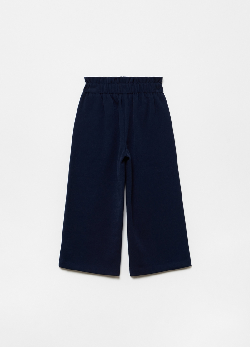 Pantaloni crop stretch con tasche image number null