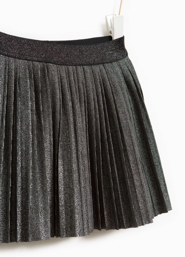 Pleated stretch skirt with lurex | OVS