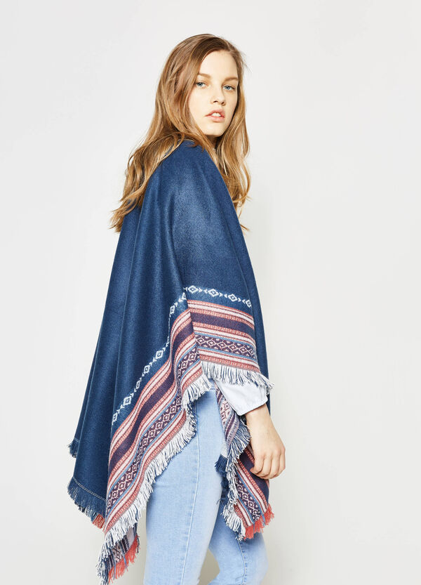 Scarf with ethnic embroidery trim | OVS