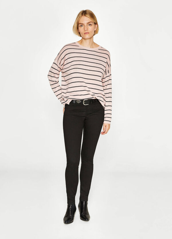 Striped patterned cotton pullover | OVS
