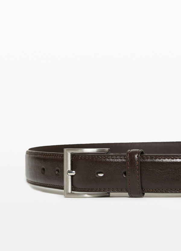 Solid colour belt with square buckle