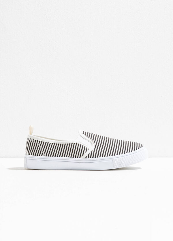 Slip-on with striped canvas upper | OVS
