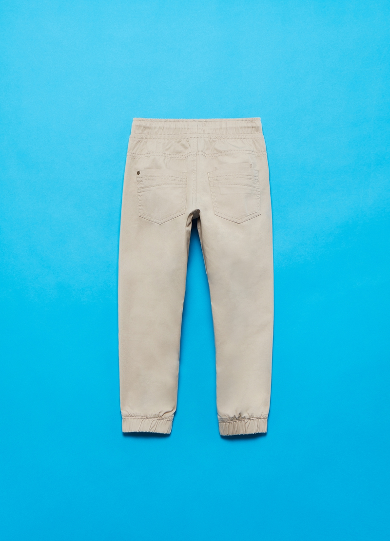 Cotton trousers with drawstring image number null