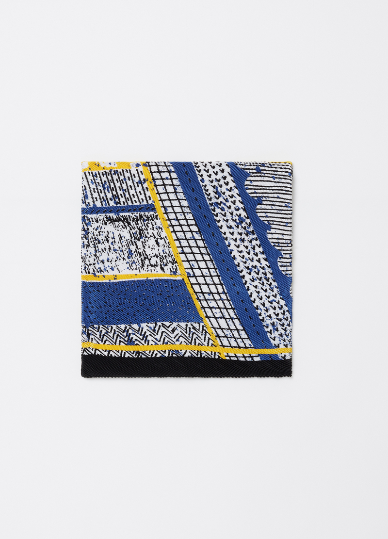 Abstract pattern pleated satin foulard image number null
