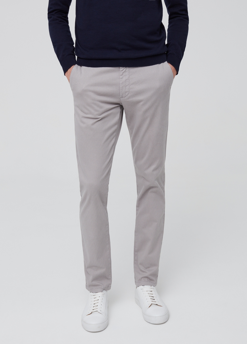 Pantaloni chino slim fit fantasia image number null