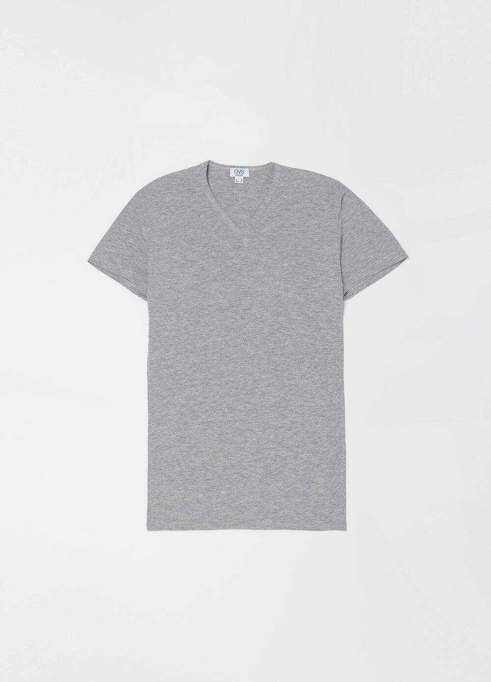 V-neck stretch cotton undershirt
