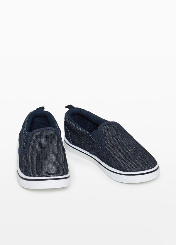 Slip-on with woven upper